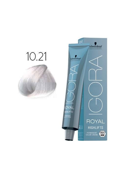 Schwarzkopf Igora Royal  Highlifts Оттенки блонд с технологией Fibre Bond 10-21 ультра блондин пепел