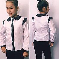 Дитяча блузка з коротким рукавом №721 (синя, чорна), фото 1