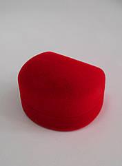 Футляр для кольца красный бархатный 979