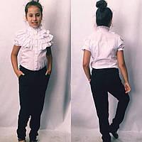 Детская блузка с коротким рукавом №724  , фото 1