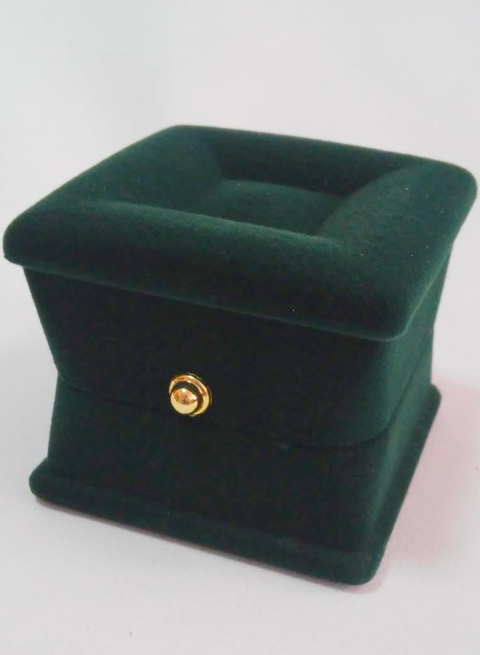 Футляр универсальный бархатный квадратный темно-зеленый 341