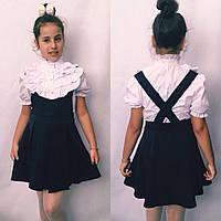 Детский школьный сарафан №665 (черный, синий), фото 1