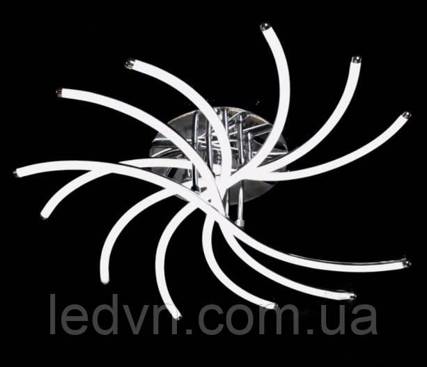 Светодиодная потолочная LED люстра хром управление яркостью и цветом