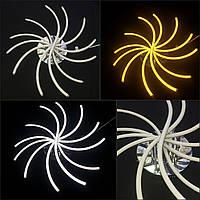 Светодиодная потолочная LED люстра золото 105watt dimmer