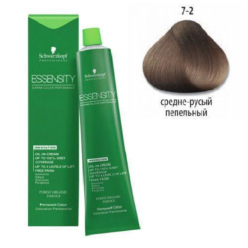 Schwarzkopf Essensity Перм. крем-краска для волос без аммиака 7-2 средне-русый пепельный