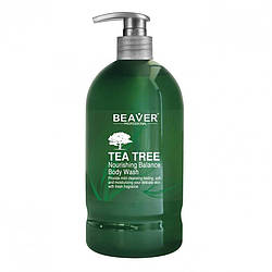 BEAVER Tea Tree Nourishing Balance Body Wash - Гель для душа с маслом Чайного дерева, 600 мл