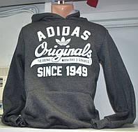 Мужская толстовка Adidas серого цвета
