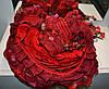 Женский шарф красного цвета
