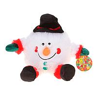 """Замечательный подарок мягкая  механическая игрушка """"Снеговик в шляпе"""" хохотун"""