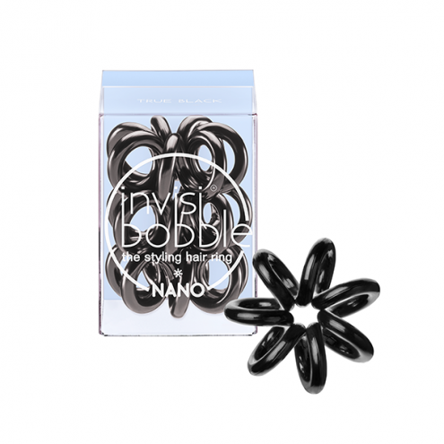 Invisi bobble Hair ring ORIGINAL - Резинка-спираль NANO True Black (уп 3 шт)