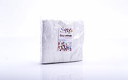 Технокомплекс Полотенце 40*70 см, спанлейс 50г/м2, сетчатая стр., Белый, 100 шт/уп