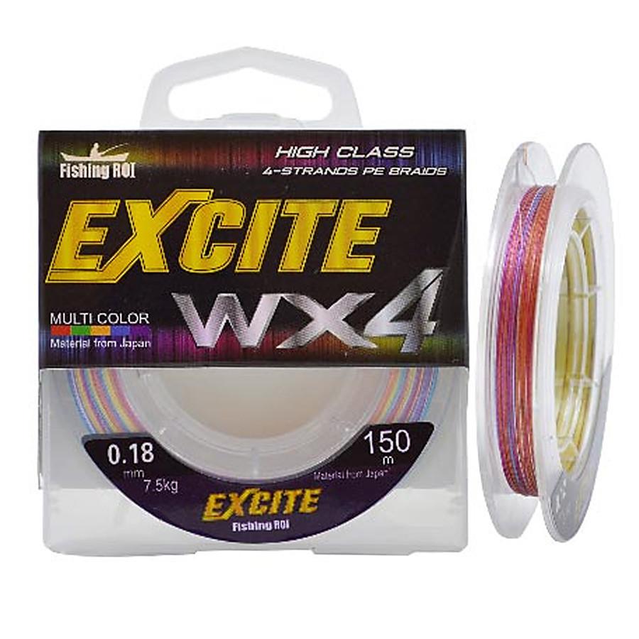 Шнур Fishing ROI Excite WX4 150м 0,16мм  5.9кг цвет-multicolor