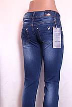Женские  зауженные джинсы  с потертостями и стразами, фото 2