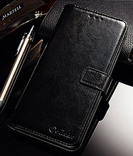 Кожаный чехол-книжка для Xiaomi Redmi note 5 черный