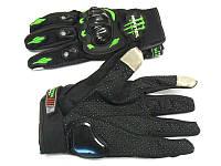 "Мотоперчатки Monster Energy ""сенсор"" чёрные, размер XL, фото 1"