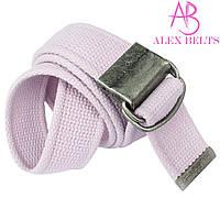 Ремень тканевый затяжка (бледно-розовый) 40 мм-купить оптом в Одессе