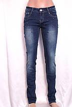 Женские  зауженные джинсы  с потертостями, фото 3