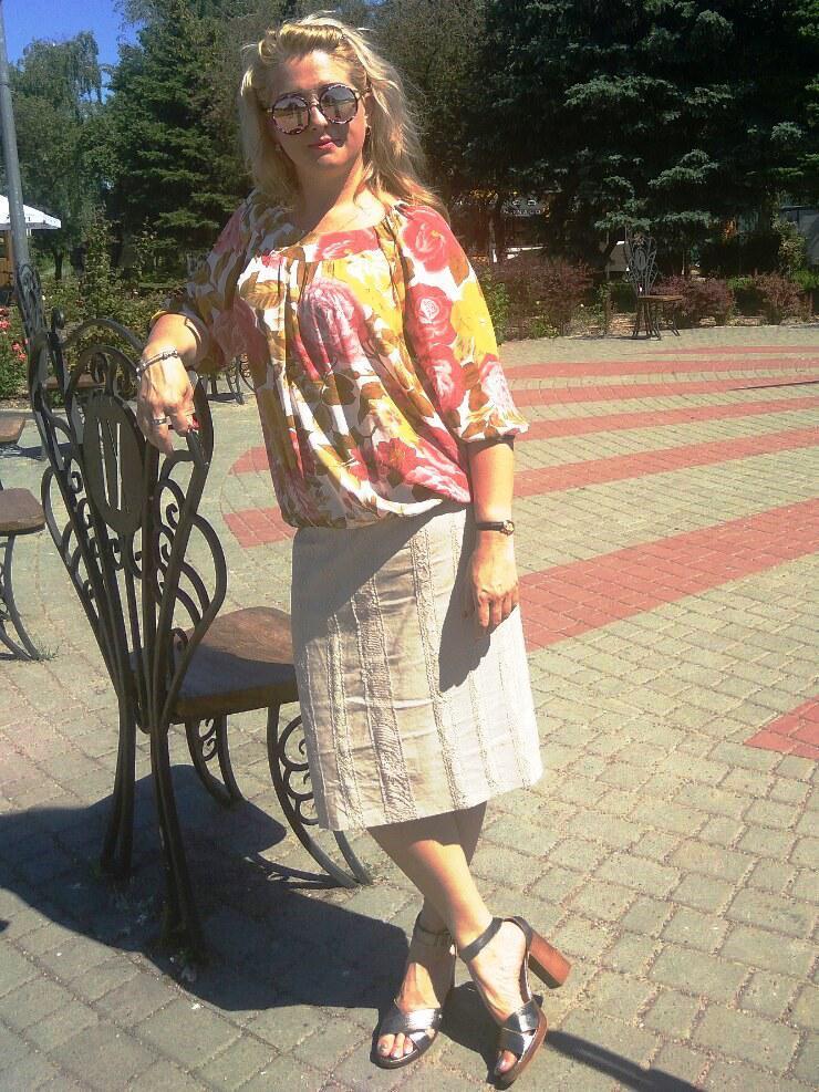 Юбка льняная с кружевами миди Ю 044 лен