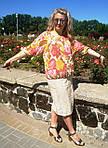 Юбка льняная с кружевами миди Ю 044 лен, фото 3