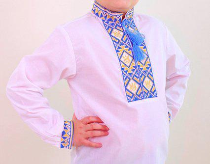 Мальчиковая вышитая рубашка Герб 140-170
