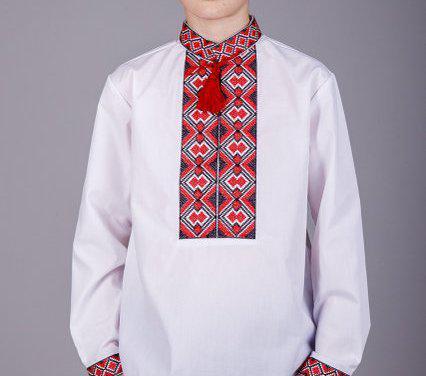 Вышитая сорочка на мальчика 158-170 рост