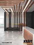 Кубоподібна рейка ширина профілю 88 мм Золотий дуб висота-35мм, фото 2