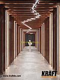 Кубоподібна рейка ширина профілю 88 мм Золотий дуб висота-35мм, фото 3
