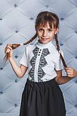 Святкова шкільна блузочка для дівчинки