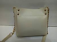 Женская мини-сумка, бежевая, фото 1
