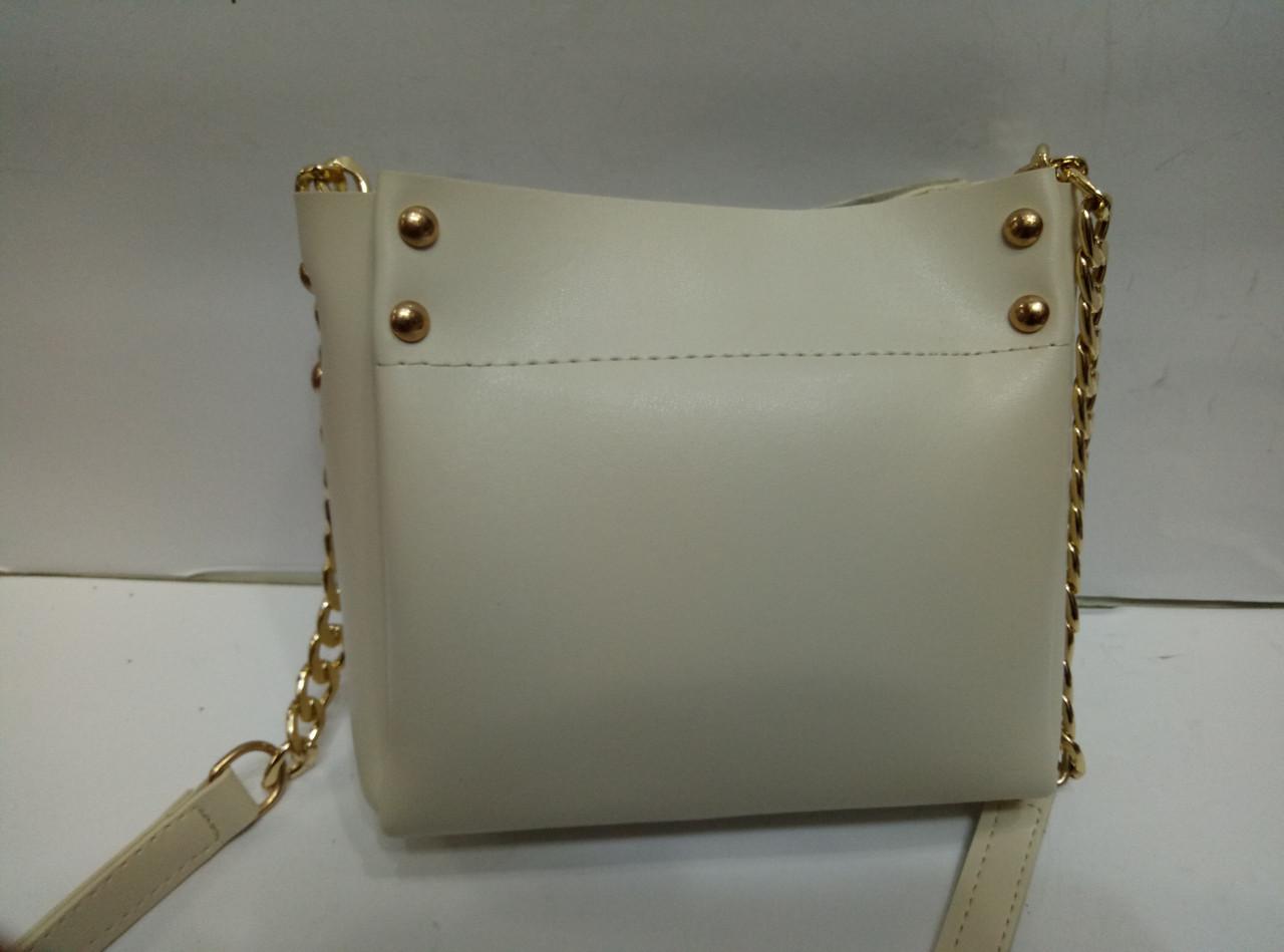 Женская мини-сумка, бежевая ( код: IBG155M )