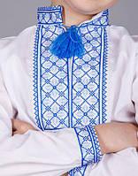 Вышитая сорочка крестиком на белом батисте