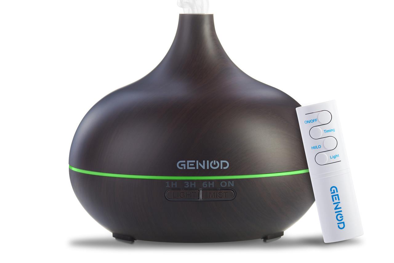 Арома-зволожувач повітря Geniod з пультом управління 450 мл темне дерево (3015)