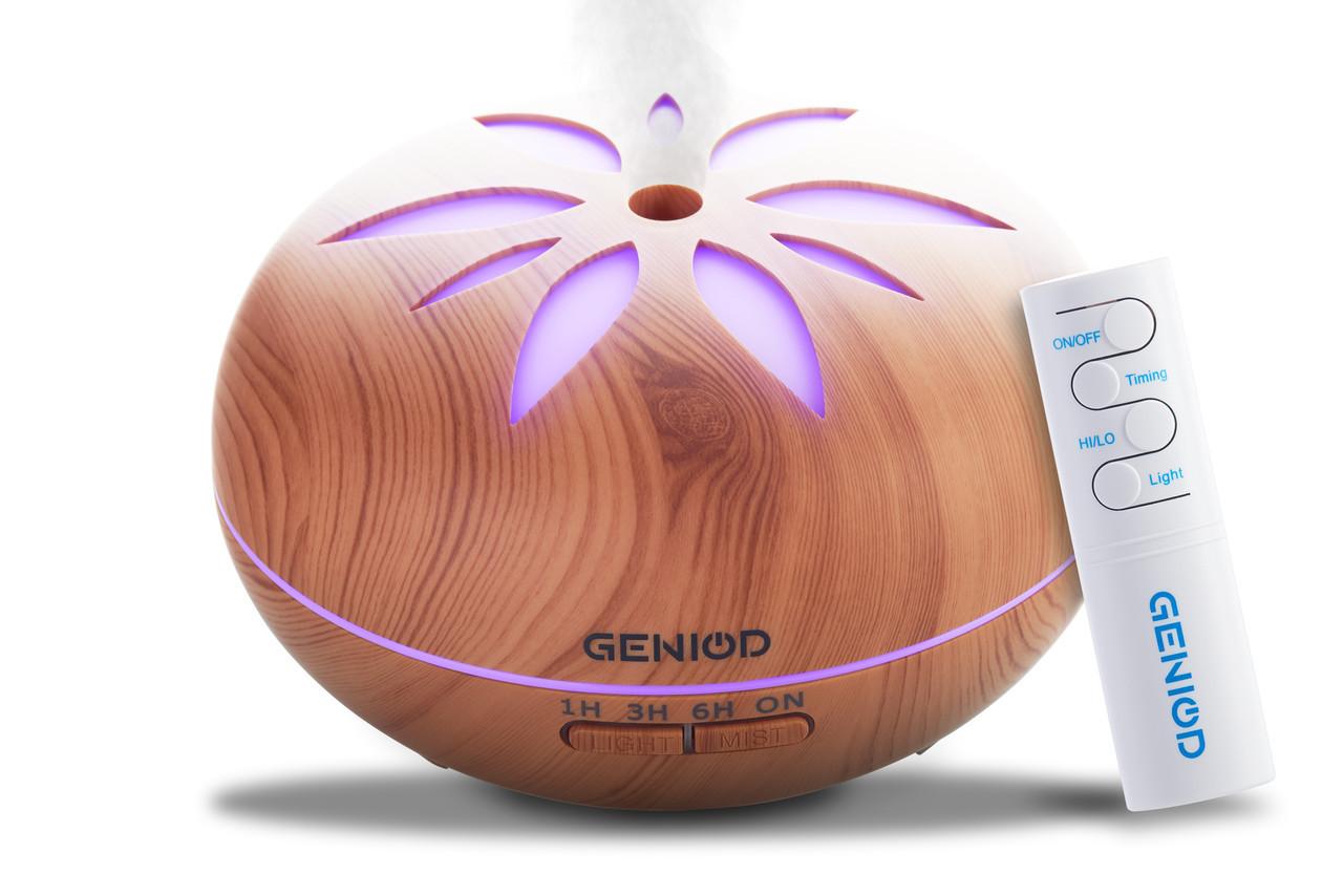 Арома-увлажнитель воздуха Geniod с пультом управления 450 мл светлое дерево (3016)