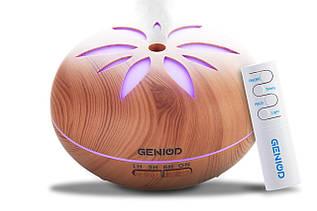 Арома-зволожувач повітря Geniod з пультом управління 450 мл світле дерево (3016)