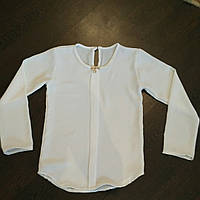 5e573740020 Белая блузка для школы для девочки6-10 лет