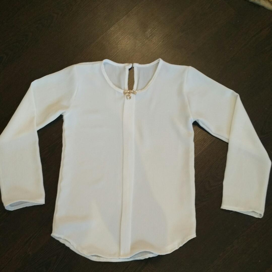 0cb8419550c Белая блузка для школы для девочки6-10 лет
