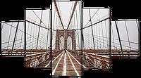Модульная картина Мост пешеходный