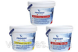 FROGGY™: Long Chlor, 5 кг; Shock Chlor, 4 кг; PH- Minus, 5кг