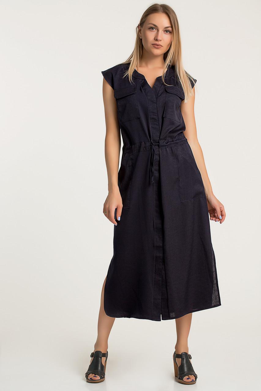 Платье LiLove 359 42 темно-синий