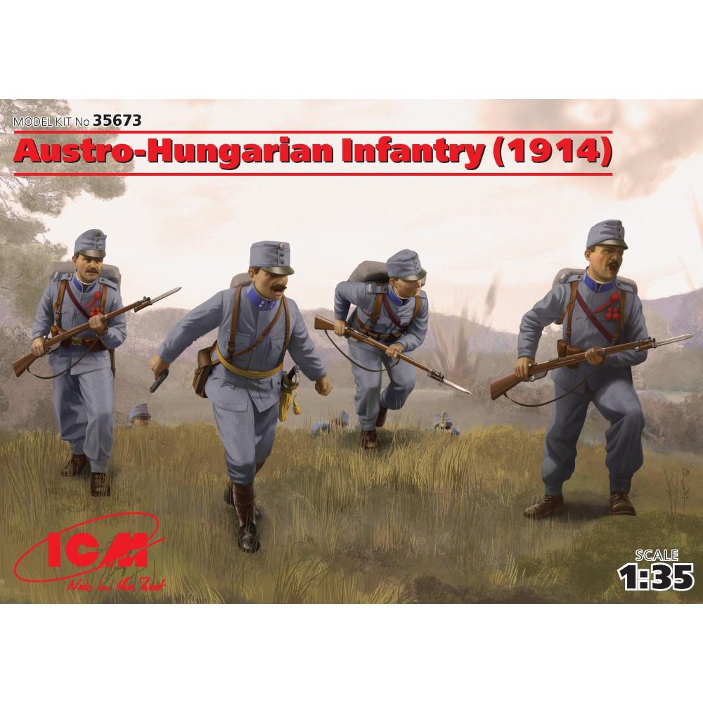 Пехота Австро-Венгрии (1914г.) (4 фигуры). 1/35 ICM 35673