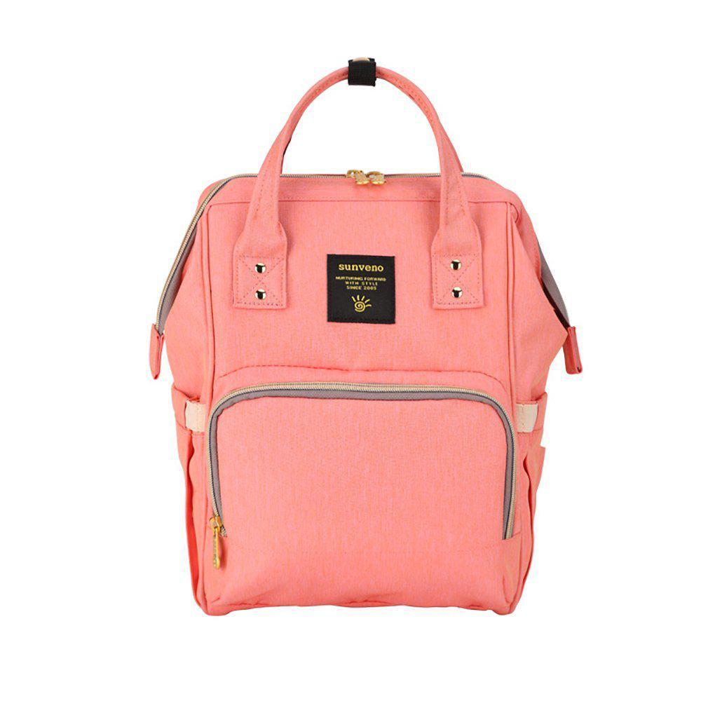 Рюкзак-сумка для мам Оригинал Sunveno medium. Умный органайзер. Стильный дизайн. Orange Pink