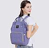 Рюкзак-сумка для мам Оригинал Sunveno medium. Умный органайзер. Стильный дизайн. Orange Pink, фото 6