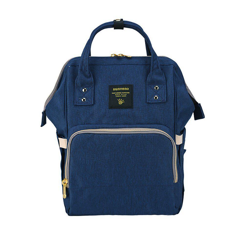 Рюкзак-сумка для мам Оригинал Sunveno Medium. Умный органайзер. Стильный дизайн. Синий