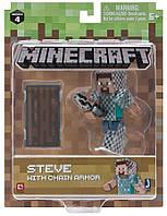 Подвижная фигурка Minecraft Steve with Chain Armour