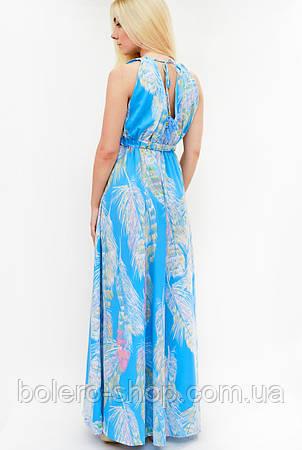 Женское платье длинное синее Италия, фото 2