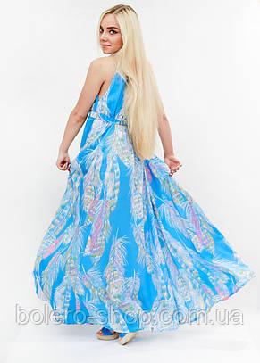 Женское платье длинное синее Италия, фото 3