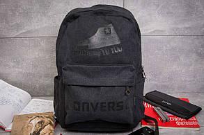 Рюкзак унисекс Converse, черные (90012),  [   1  ] (реплика)