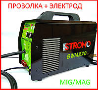 ✅ Сварочный полуавтомат инверторный Stromo SWM-270 (проволка и электрод), фото 1