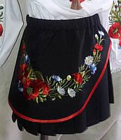 Вышитая юбка для девочек, цвет черный