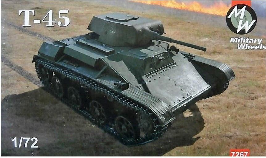 Легкий танк T-45. 1/72 MILITARY WHEELS 7267